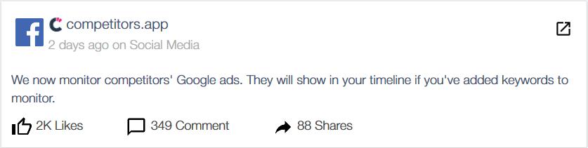 Facebook posts detection